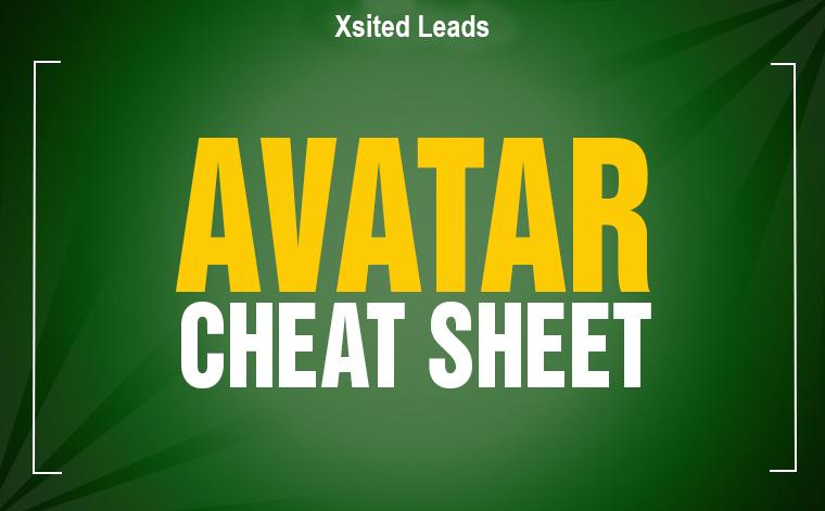 Avatar Cheat Sheet